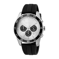Mens Chronograph With Black Silicone Strap