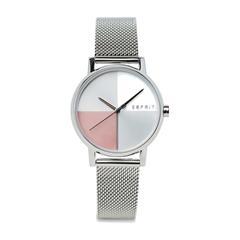 Uhr Levels Silver Pink Mesh für Damen aus Edelstahl