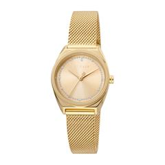 Set Slice Dot watch for ladies and bracelet gold plated