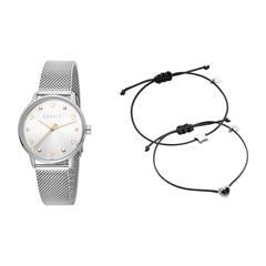 Set aus Uhr und zwei Armbändern für Damen