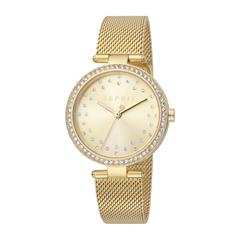 Ladies Gold Plated Stainless Steel Watch With Mesh Strap