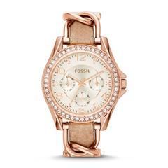 Uhr für Damen in Rosé mit Zirkonia
