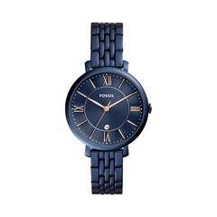 Damen Uhr Edelstahl Blau
