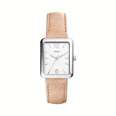Uhr für Damen mit beigem Lederband