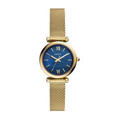 Uhr Carlie Mini für Damen aus Edelstahl, gold