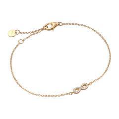 Infinity Armband für Damen aus 925er Silber, vergoldet