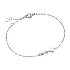 Heart Bracelet Infinity For Ladies In Sterling Silver