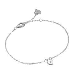 Armband Herzschloss für Damen aus 925er Silber