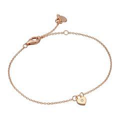 Armband Herzschloss für Damen aus 925er Silber, rosé
