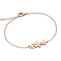 Damen Armband Blüten aus Sterlingsilber, rosé