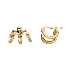 Ohrringe Iva aus vergoldetem Sterlingsilber