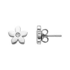 Blumen Ohrstecker für Damen aus 925er Silber, Zirkonia