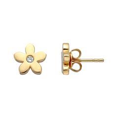 Damen Ohrstecker Blüten aus vergoldetem 925er Silber