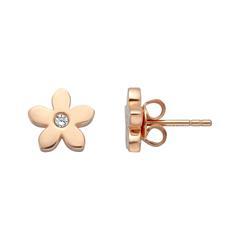 Ohrstecker Blüten für Damen aus Sterlingsilber, rosé