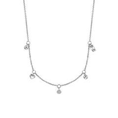 Halskette für Damen aus 925er Silber mit Zirkonia