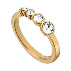 Ring Twinkle Edelstahl vergoldet Zirkonia