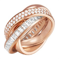 Extravaganter Ring ES-Tridelia Rose