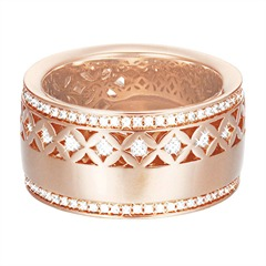 Extravaganter Esprit Ring in rosé ESRG02270C