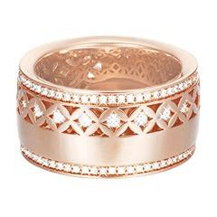 Extravaganter Ring in rosé