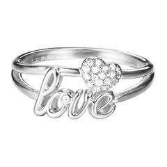 Love Ring mit Herz Zirkonia