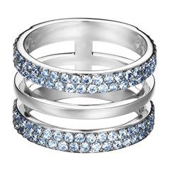3 Sprossen Ring blaue Zirkonia