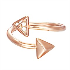Hip-Star Ring Arrow in rosé