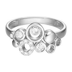 Modischer Ring mit Zirkonia