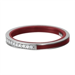 Ring Marin Silver Glam Bordeaux