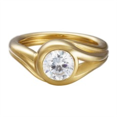Ring Glamour Solitaire Gold