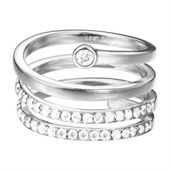 Twisted Esprit Ring Zirkoniabesatz ESRG92789A