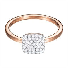 Roségoldener Ring ES-Glam Square Rose ESRG92811C