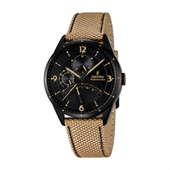 Herrenuhr Retrograde Textil Leder