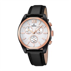 Mens Watch Chronograph Stainless Steel Rose