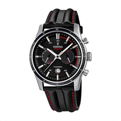 Racing Mens Chronograph Black Red