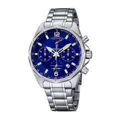 Chronograph Männer blaues Zifferblatt