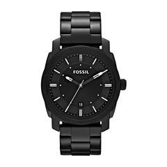 Uhr Machine für Herren aus Edelstahl, schwarz