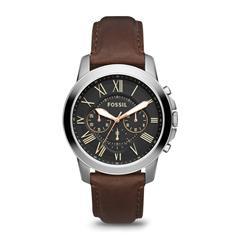 Chronograph Grant für Herren mit Lederband, braun