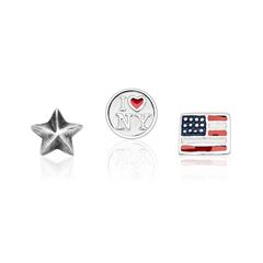 Floating Charm Set USA 925er Silber