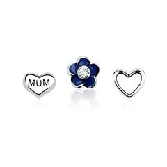 3er Set Floating Charms Mum 925er Silber