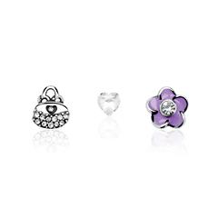 Floating Charms 3er Set 925er Sterlingsilber