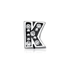 Floating Charm K Sterlingsilber Zirkonia