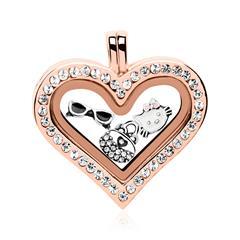 Charm Starterset Medaillon 925er Silber rosé