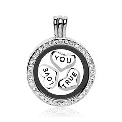 Set True Love Medaillon Charms Silber