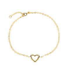 Armband Herz aus 585er Gold weitenverstellbar