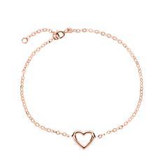 Ladies Heart Bracelet In 585 Rose Gold