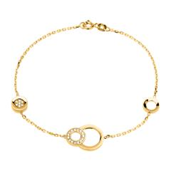 Armband Kreise aus 333er Gold mit Zirkonia