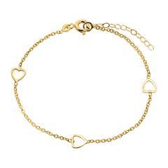 Armband aus 375er Gold mit Herzen
