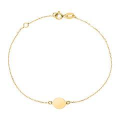Gravierbares Kreisarmband für Damen aus 375er Gold