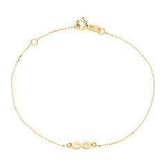 9K Goldarmband Infinity für Damen