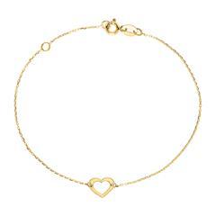 Herzarmband für Damen aus 9-karätigem Gold
